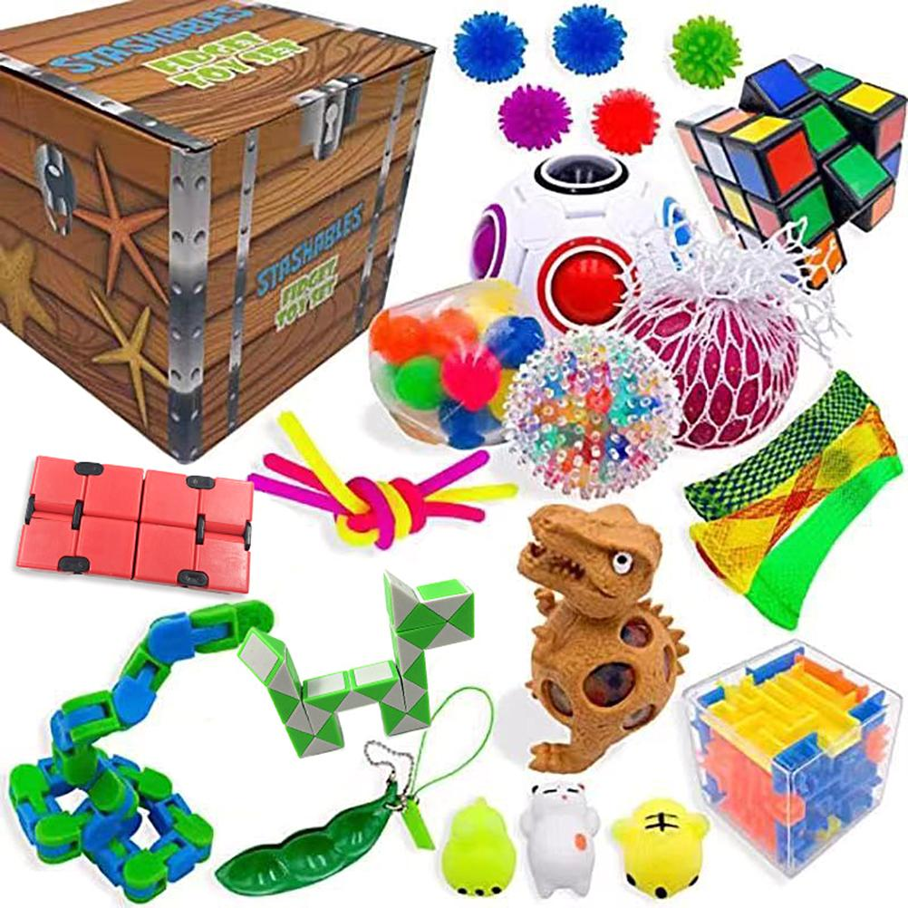 20pcs/22pcs Pack Fidget Sensory Toy Set Stress Relief Autism Anxiety Toy Relief Toy
