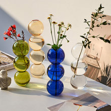 Nordic home decor Crystal Ball glass Flower vase decoration home Decorative Hydroponic vases Terrarium Wedding Table bubble vase