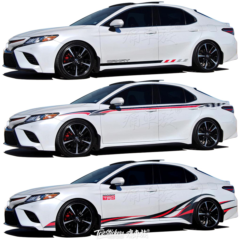 For Toyota Camry Avalon 2019 Car Sticker Body Exterior Decoration Sticker Avalon Sport Exterior Modification