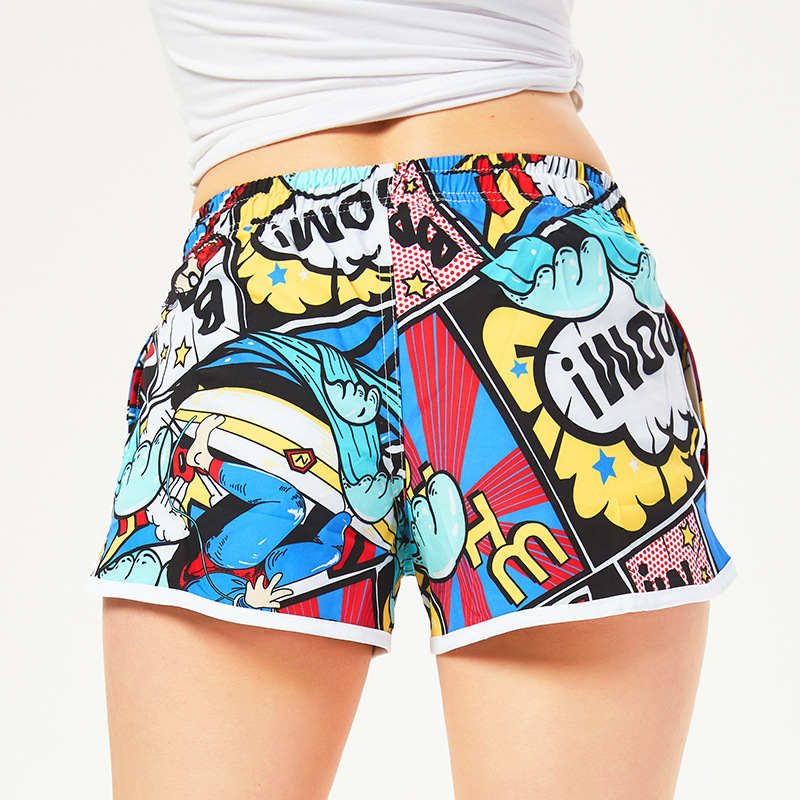 Couples Shorts Beach Shorts Loose-Fit Seaside Holiday Swimming Trunks Women's Fashion Quick-Dry Sao Gas Trunks Set