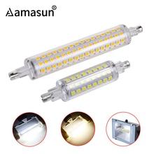 J78 J118 78mm 118mm R7S lámparas lámpara Led AC 220V 110V 2835SMD 64 128 leds reemplazo de proyector de halógeno Floodlight R7S sin parpadeo