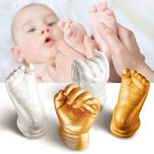 3D детские руки с принтом стопы маленьких литья набор для памятного сувенира Handprint след рост ребенка Сувениры мемориал