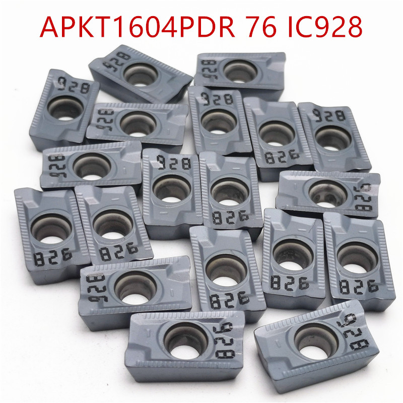 Tungsten Carbide APKT1604 PDER 76 IC928 Turning Tools Carbide Insert Lathe Cutter Tool High Quality APKT 1604  Turning Insert