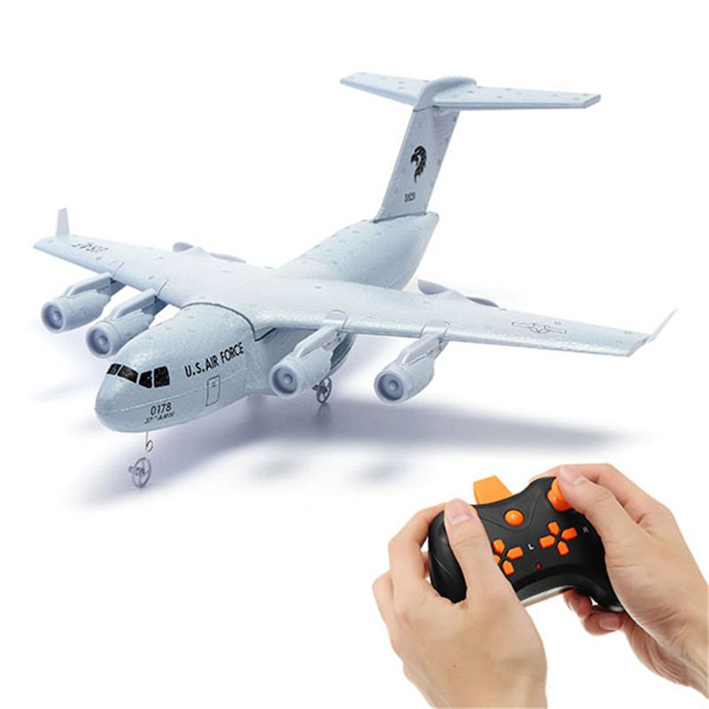 Best Deal C17 C-17 Transport 373mm Wingspan EPP DIY RC Airplane RTF Fixing Wing RC Toys for Kids Boys Gifts image