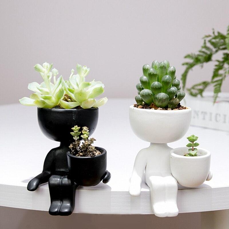 Гуманоид керамика цветок горшок креатив поделки ваза дом украшение дом украшение личность подарок