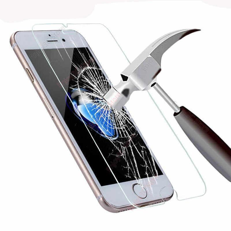 Película de vidrio templado para iPhone 11 Pro MAX, 2 protectores de pantalla para iPhone 8X7 6S Plus 5 5S SE 2020 XS XR XS MAX