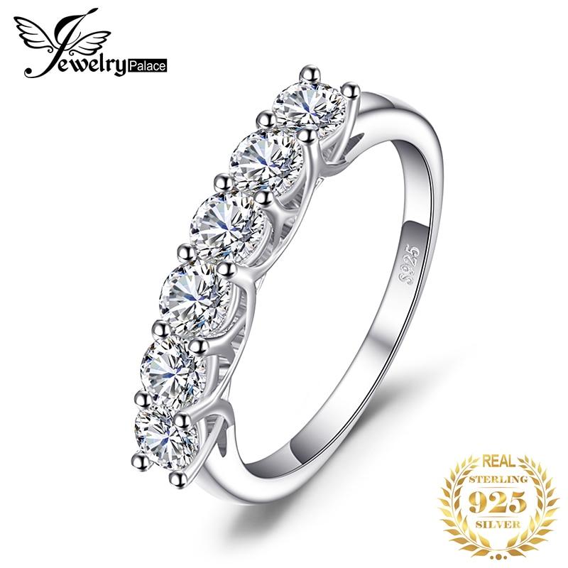 Cz Ring,Alalaso Women Fashion Eternity Thin Rings Plating Wedding Jewellery