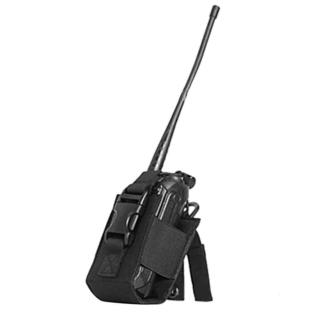 Bolsa de paquete Walkie Talkie de caza bolsa de soporte deportes tácticos colgante militar Molle Nylon Radio Revista Mag bolsa de bolsillo