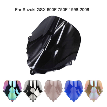For Suzuki GSX 600F GSX750F 1998 -2008 Motorcycle Windshield Windscreen Double Bubble Air Wind Deflector Fairing Black image