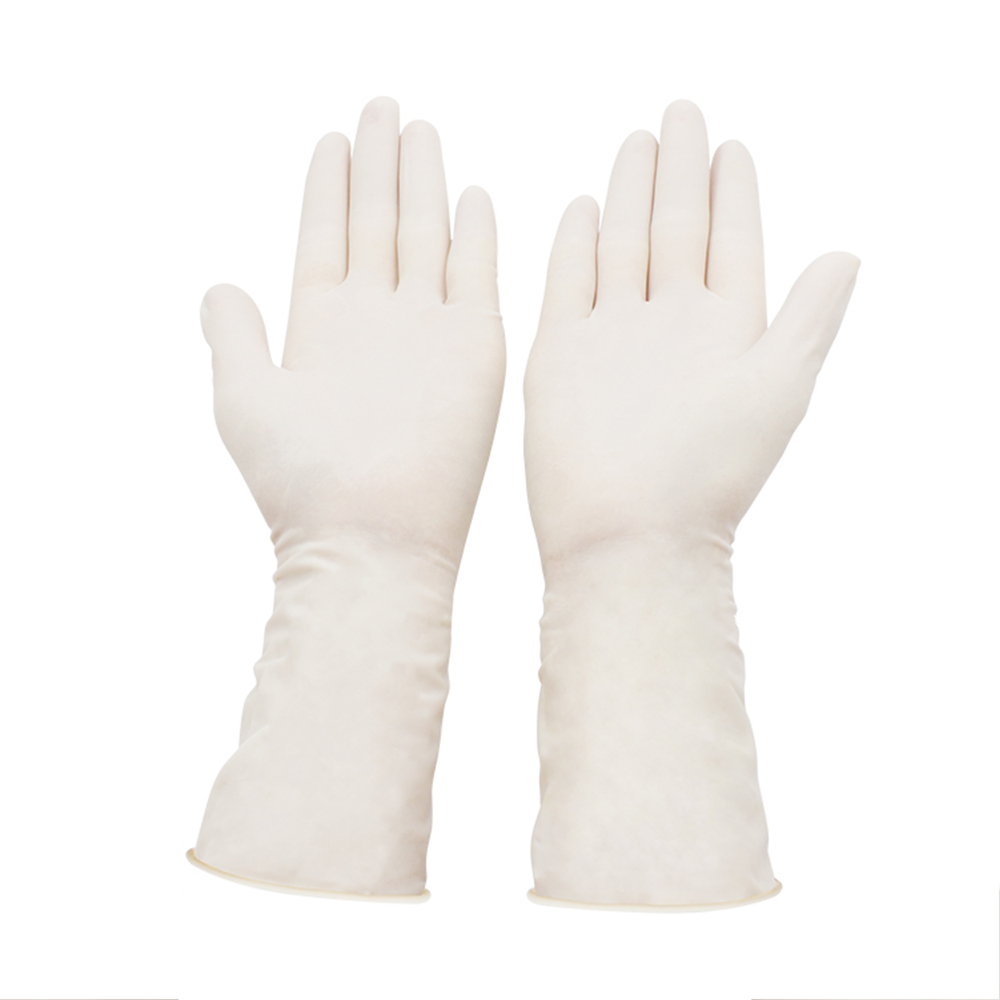 100pcs Non-Slip Acid And Alkali Laboratory Rubber Latex Gloves Disposable Latex Gloves White Household Cleaning Products