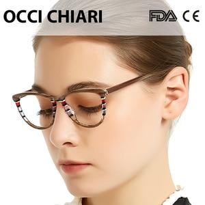 Image 4 - OCCI CHIARI Italy design Glasses women Frame Eyewear Frame Spectacles Oculos Lunettes Gafas Demi Colour Gift W CORSO