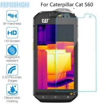 Перейти на Алиэкспресс и купить 9H 2.5D Закаленное стекло для гусеницы Cat S60 Взрывозащищенный протектор экрана для гусеницы Cat S52 защитная пленка, стекло