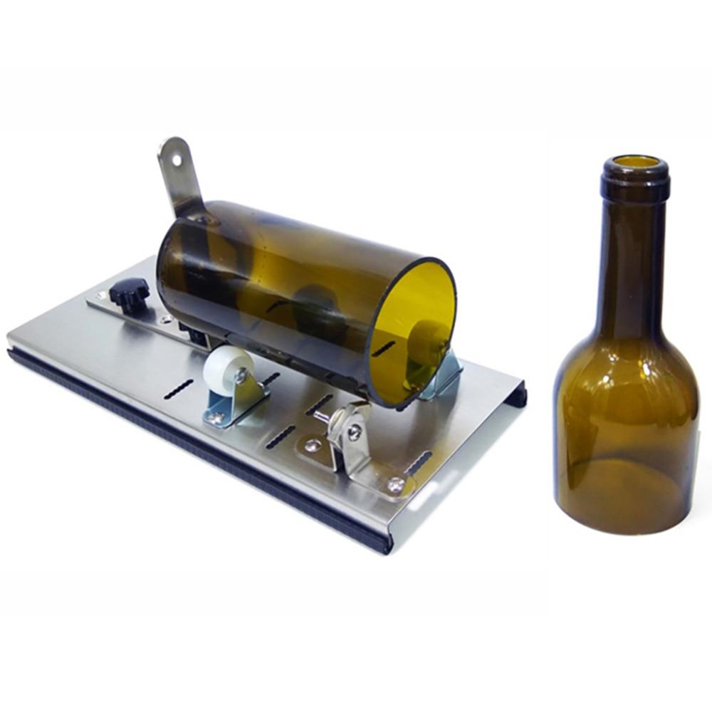 Cutting 4-15mm Thickness Glass Bottle Cutter DIY Cut Tools Machine Wine Beer Sandpaper Glass Bottle Cutter Tool Glass Sculptures