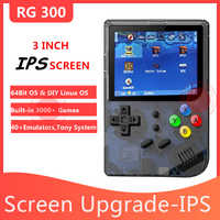ANBERNIC nouveau 3 pouces IPS écran rétro jeu 300 Tony système jeu vidéo RG 300 16G PS1 64 bits Portable lecteur de jeu Portable RG300