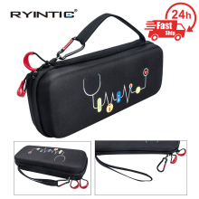 Hard EVA Portable Stethoscope Carrying Case Bag Cover for 3M Littmann Classic III / MDF / ADC / Omron and other Accessories
