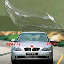 ل 2004 2005 2006 2007 2008 2009 2010 BMW 5 سلسلة E61 E60 520 523 525 530i كشافات غطاء الزجاج عاكس الضوء العلوي قذيفة
