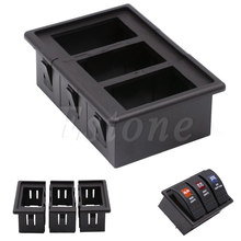 Plastic 3 Rocker Switch Clip Panel Assembly Patrol Holder Housing For ARB Carling Type Auto Parts Switches & Controls