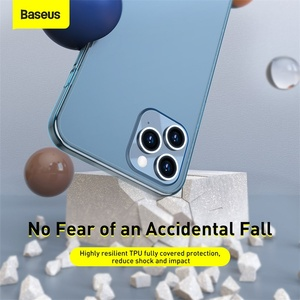 Image 5 - Baseus Frosted Glass Protective Case For iPhone 12 Pro 12 Back Case For iPhone 12 Pro Max Protective Soft Phone Cover For iPhone