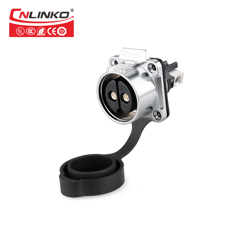 Image 4 - Cnlinko Quickly Push Pull 2 Pin Connection Socket Plug IP67 Waterproof Round Outdoor Cable AC DC 50A 500V Power Connectors CE ULConnectors   -