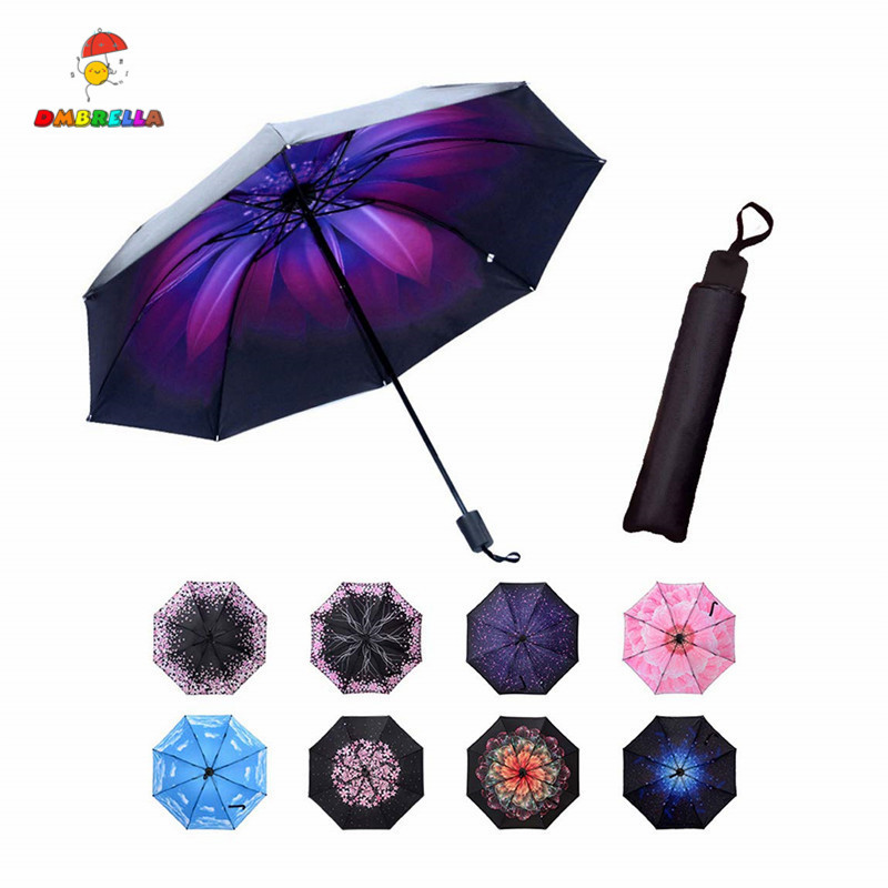 Mini Compact Umbrella Small Folding Umbrella UV Protection Travel Parasol