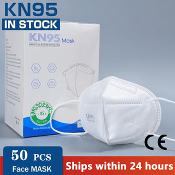 Szybka wysyłka KN95 maski filtry FFP2 wielokrotnego użytku ochronne maski na twarz do ochrony przed wirusami filtracja pył usta czapki maska pokrywa tanie i dobre opinie NoEnName_Null Chin kontynentalnych Bakterie Dowód Jednorazowego użytku Dla dorosłych GB2626-2006