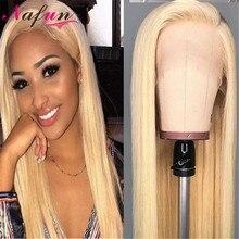 NAFUN #27 30 99j 613 תחרה פרונטאלית סגירת בלונד פרונטאלית שיער טבעי פרונטאלית ברזילאי ישר שיער שוויצרי תחרת סגר ללא  רמי