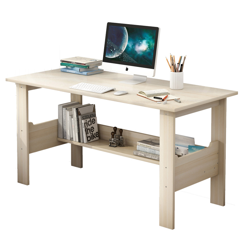 Computer Desk Desktop Home Desk Student Writing Desk Simple Modern Office Solid Wood Color Simple Small Table Bedroom