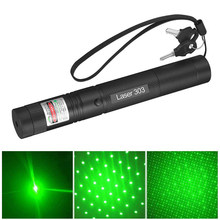 High Power Laser 303 Laser Pointer Presenter Green Laser Light Lazer PPT PowerPoint With 18650 Battery and Charger For Teacher(China)