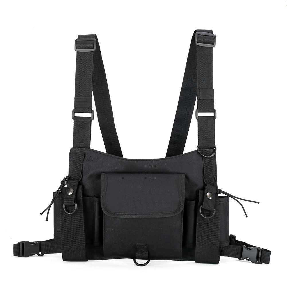 Waist Belt Vest Pouch Tactical Rig Hip Hop Multi Pockets Streetwear Fashion Multifunctional Chest Bag Large Capacity Harness