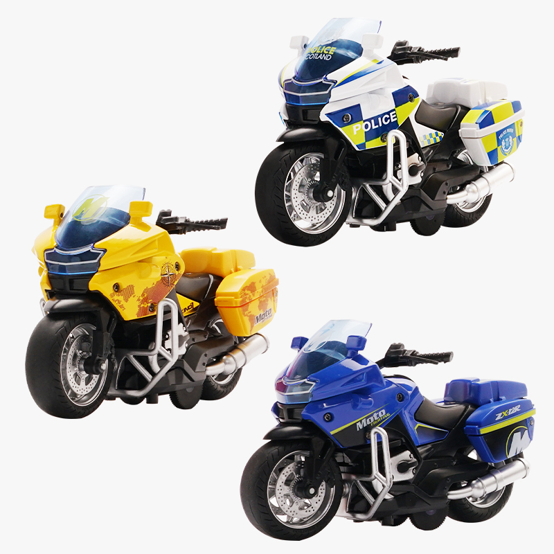 Motorcycle model Die-casting motorcycle with light and music  Toy car / Color Optional Toy gifts on Christmas Eve Ratio 1:14 1
