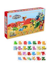 26 Letters  Alphabet Deformation Robot Creativees Animal Dinosaur Deformation Action Figures Transformation Robots Toys