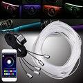 1 светильник/4/5 светильник s RGB  волоконно-оптические атмосферные лампы  приложение управления  автомобильный интерьерный светильник  комнат...