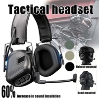 1 PCS ProfessionTactical Headset Hunting Headphone Military Shooting Headset Ear Protection Earphones with PTT Cable Plug