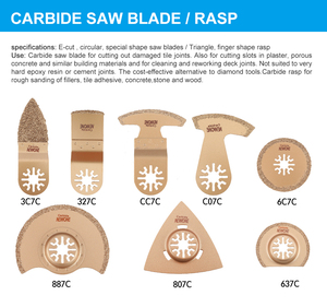 Image 5 - NEWONE Multi Oscillating Saw Blades Combo HCS/Japan tooth/Bi metal Electric Renovator saw blades Accessories for Woodworking