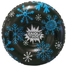 Черное лыжное кольцо со снежинками толстое износостойкое холодностойкое