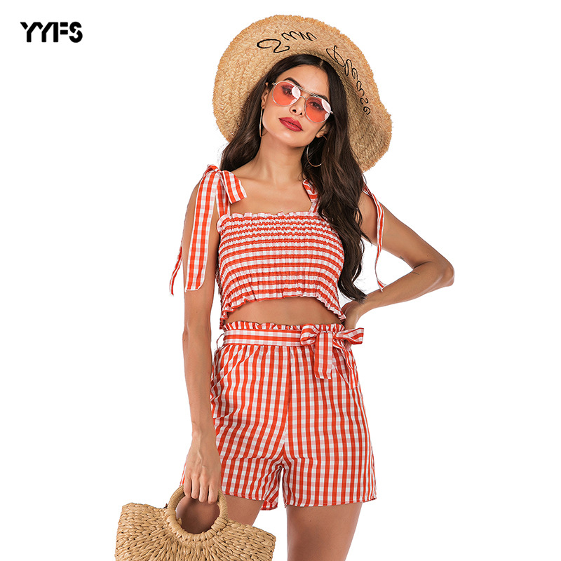 2019 Summer New Style Vest Suit Europe And America Cross Border WOMEN'S Dress Amazon Hot Selling Fashion Printed Chiffon Blouses