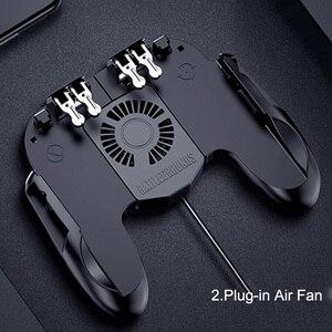 Image 4 - GamePads Controller Trigger Cooler Cooling Fan Fire PUBG Mobile Game Controller Joystick Metal L1 R1 Trigger Game Accessory