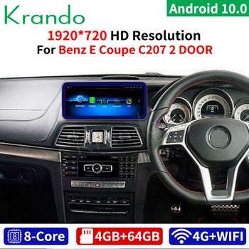 Krando android 10.0 8 Core 4+64G Car GPS Navigation Multimedia Player for Benz E Coupe C207 2 DOOR 2009-2016 RHD With WIFI Radio image