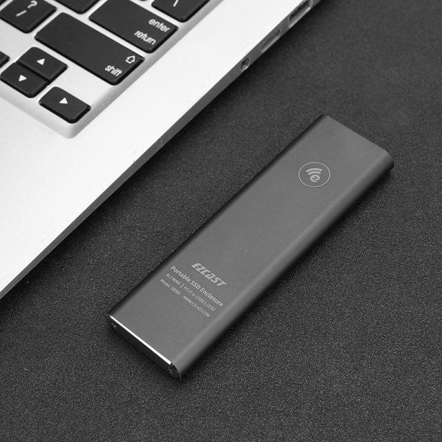 VKTECH Hard Disk Box M2 SSD Case NVME PCIe Enclosure M.2 to USB Type C 3.1 GEN2 M Key Adapter support for Windows /for Mac OS