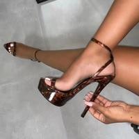 16CM Summer Platform Pump Shoes Women round Toe Super High Heel Shoes Woman Party Wedding Shoe High Heels Pumps Chaussure