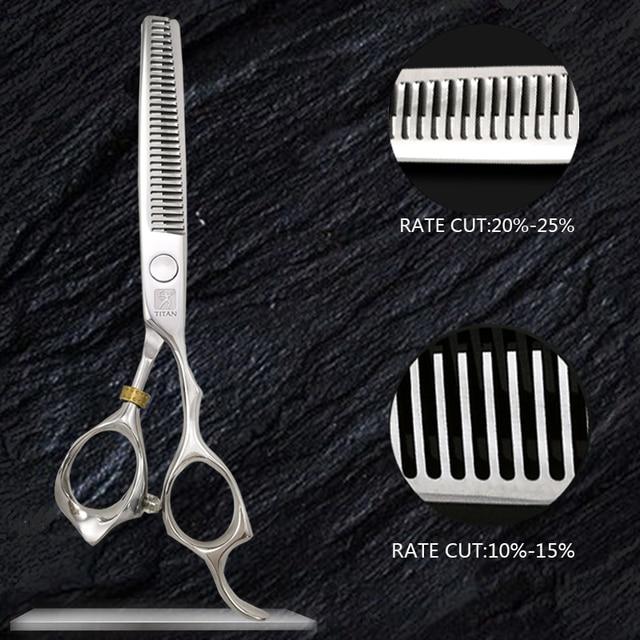 free shipping titan  Professional barber tools hair scissor 4