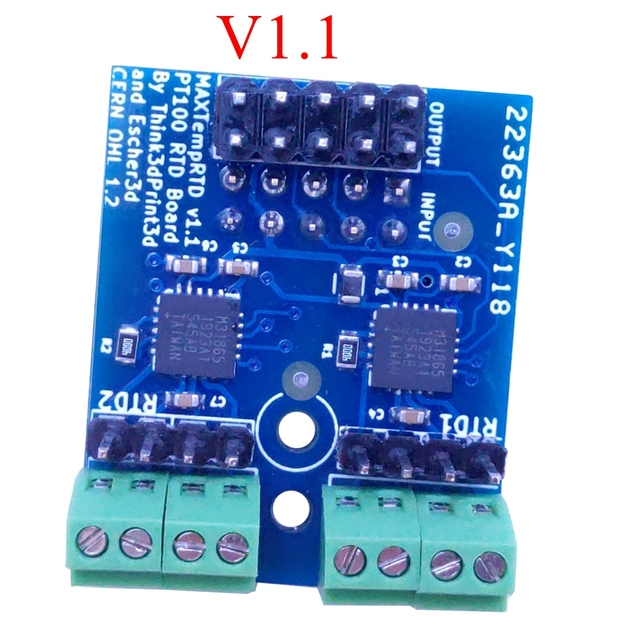 Imprimante 3D clonée carte fille PT100 pour le duo 2 Wifi, Duet 2 Ethernet et Duet 2 Maestro carte mère