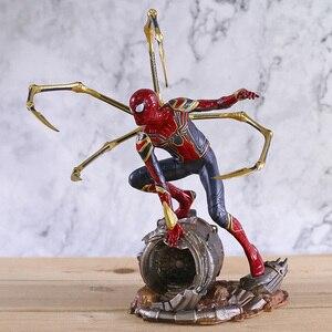 Image 1 - Marvel Avengers Unendlichkeit Krieg Eisen Spinne Statue Spiderman PVC Action Figure Sammeln Modell Superhero Spielzeug Puppe