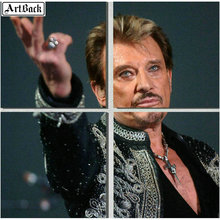 5d square JOHNNY HALLYDAY diamond painting full round drill French singer mosaic sticker decoration