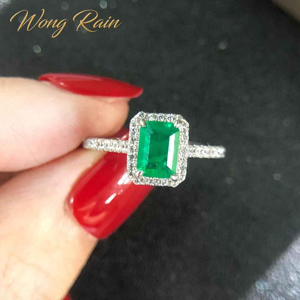 Wong deszcz rocznika 925 srebro szmaragdowe diamenty kamień ślub pierścionek zaręczynowy biżuterii hurtowych Drop Shipping