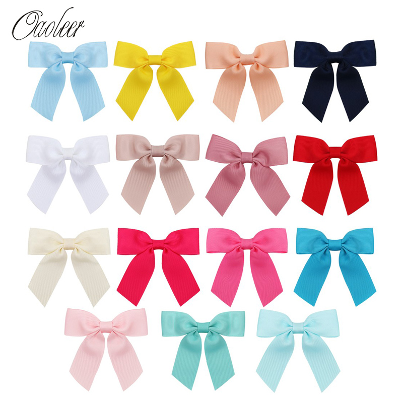 Oaoleer Hair Accessories 3 15Pcs/Lot Bows for Girls Handmade Grosgrain Ribbon Clips Children Mini Hairgrips Headwear