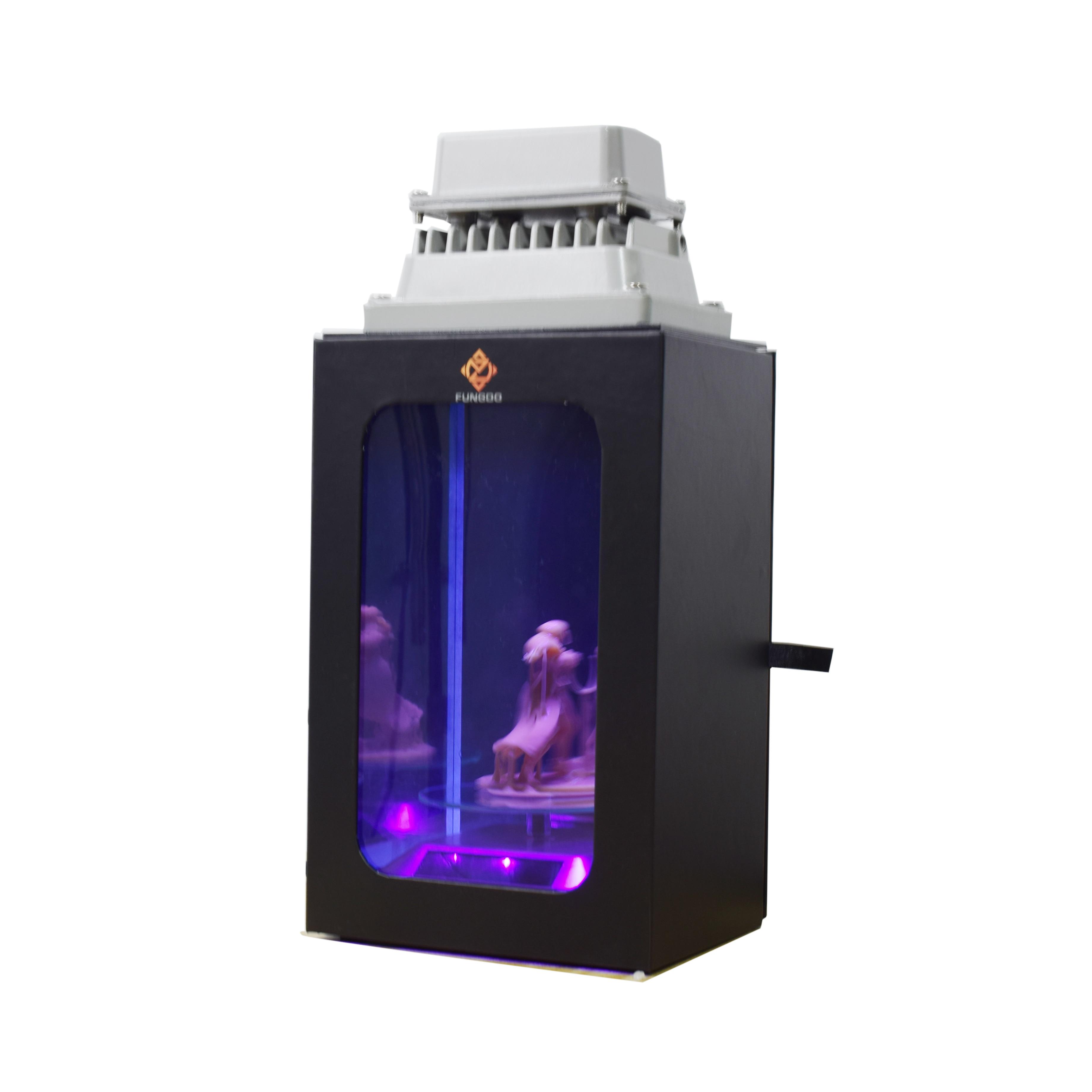 Luz de curado de resina UV con caja de regalo para impresora 3D LCD SLA DLP solidificar 405nm resina uv placa giratoria solar automática