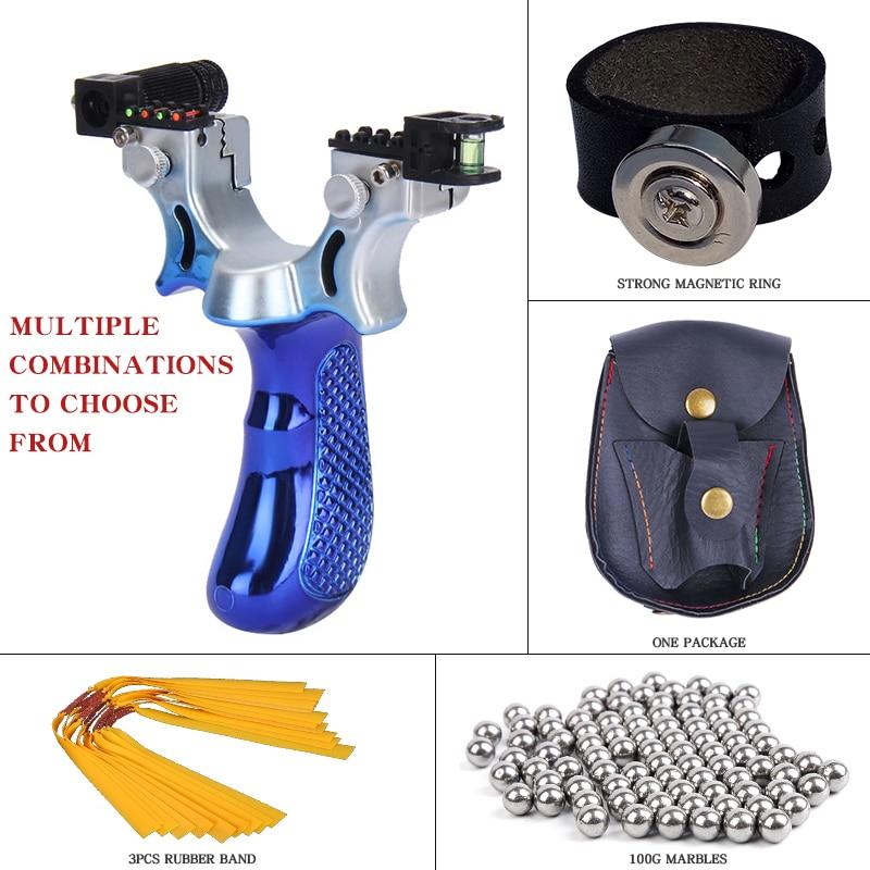 Grande Potenza In Pelle Piatta Slingshot Catapulta di Caccia Esterna di Tiro Ad Alta Precisione Professionale Slingshot Tradizionale del Colpo di Imbracatura