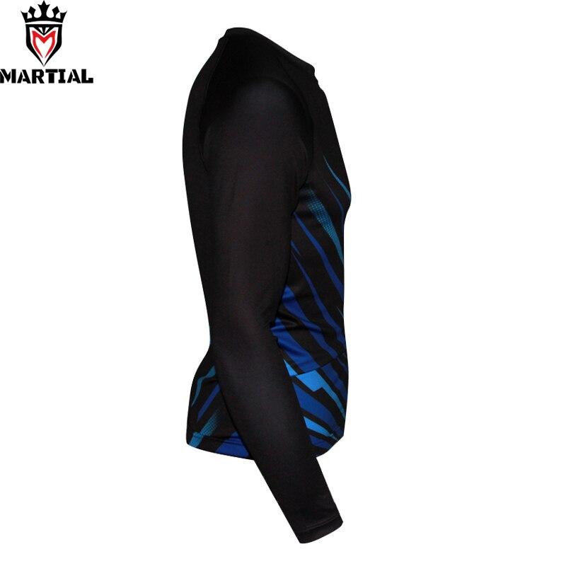 Martial Official Store Men's Mma Rashguards Long Sleeve Printed Mma Rashguard  Blue Rash Guard