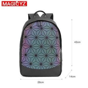 Image 5 - 2020 New Large Capacity Rucksack Women Travel Bag Luminous Laser Daypack PVC Leather Backpacks Female Glowing Backpack